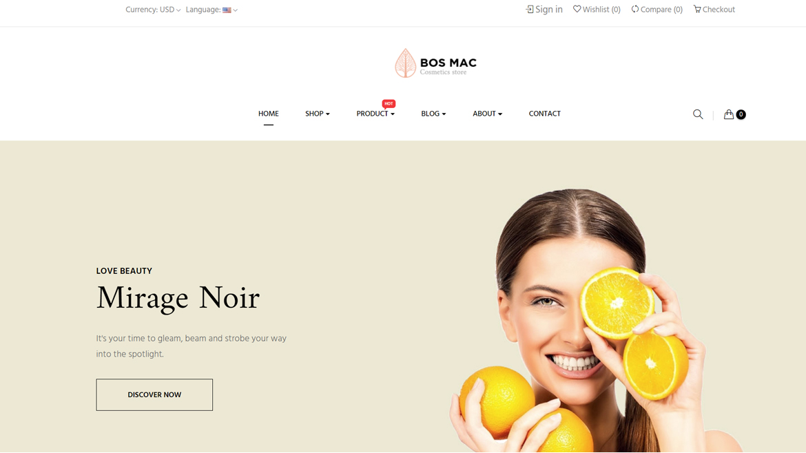 Bos Mac Prestashop 1.7 theme - Cosmetic and Beauty Store - free install support