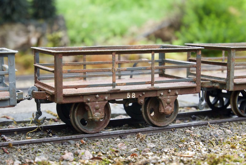 Beautifully finished slate wagons