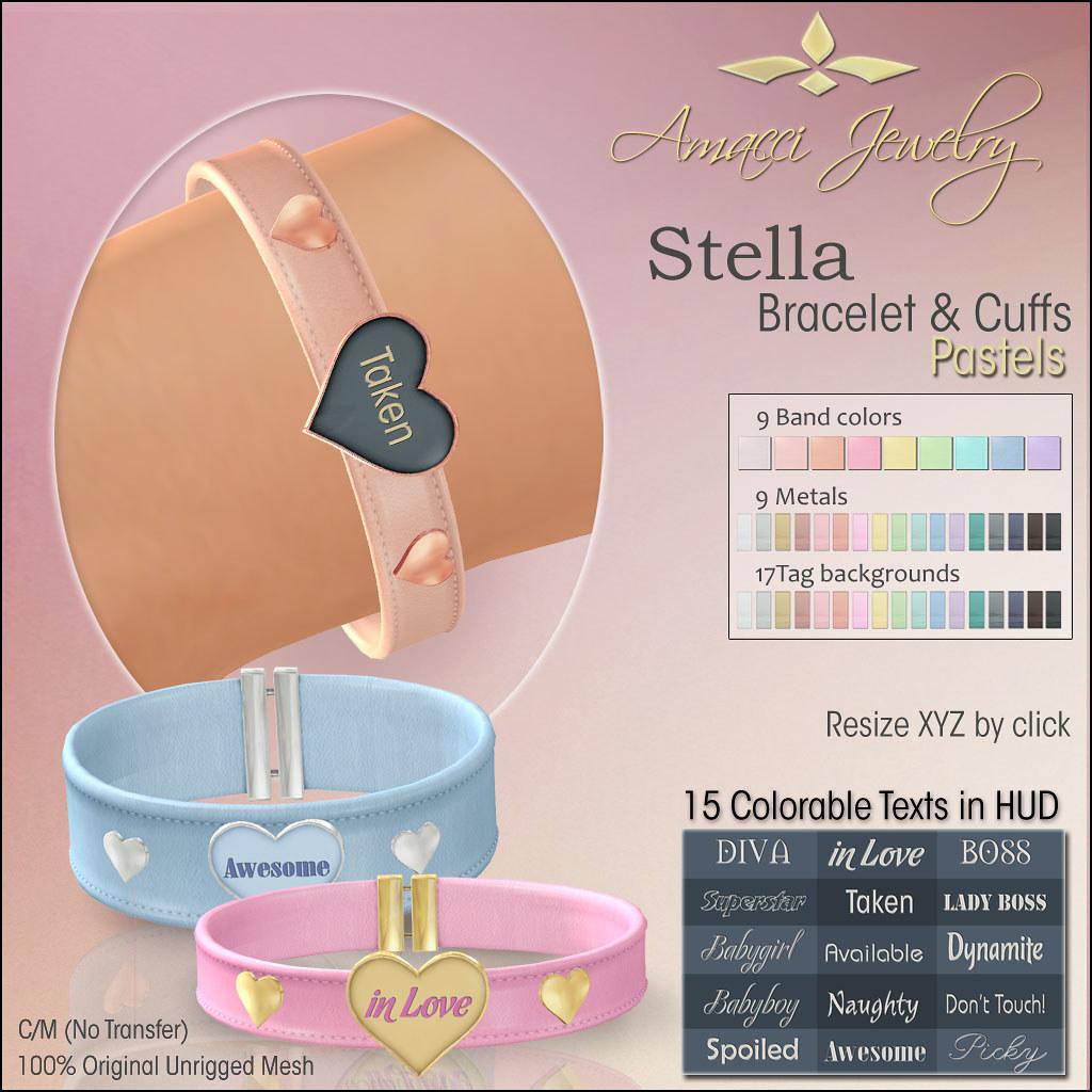 Amacci Stella Bracelet Cuffs Pastel - TeleportHub.com Live!