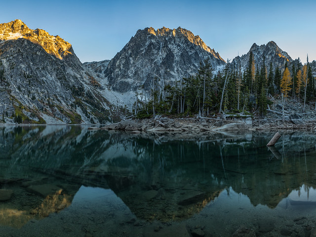 Lake Colchuck Sunset, Nikon D750, Sigma 150-500mm F5-6.3 DG OS APO HSM