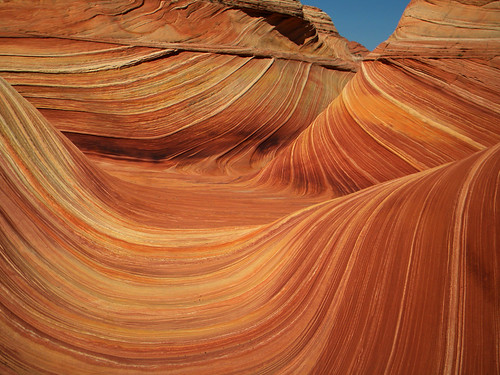 'The Wave', striped sandstone surf near the Utah/Arizona Borderlands, USA