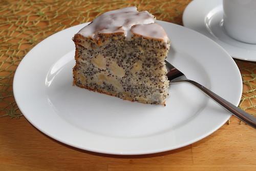 Apfel-Mohn-Kuchen (mein 1. Stück)