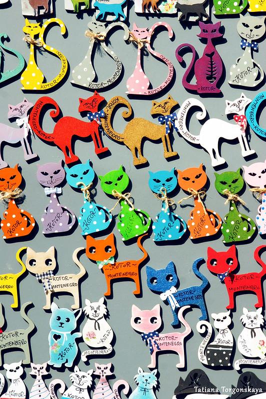 Магниты в виде котов
