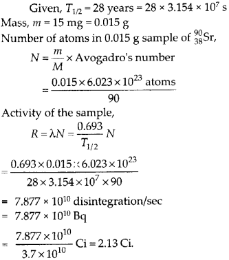 NCERT Solutions for Class 12 Physics Chapter 13 Nucle 16