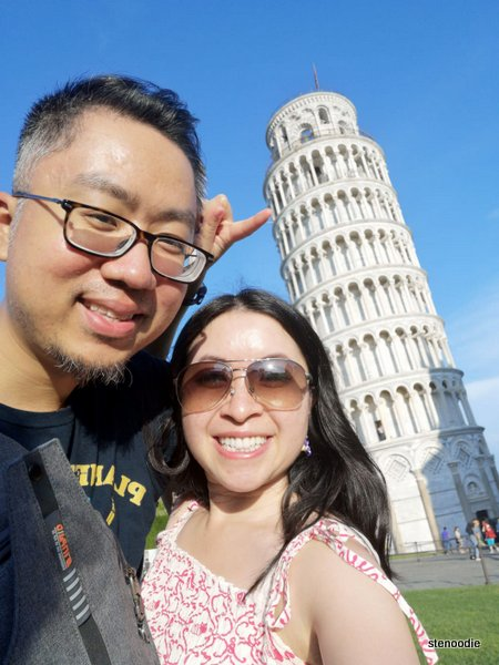 Leaning Tower of Pisa selfie