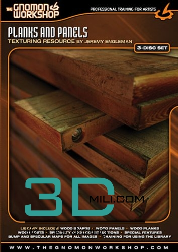 The Gnomon Workshop Texture and Training: Planks and Panels - 3D