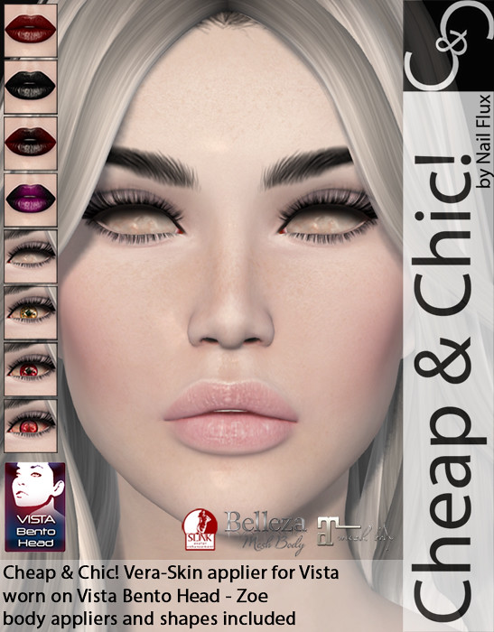 Cheap & Chic! Vera-GOTHIC skin applier for Vista - TeleportHub.com Live!