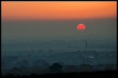 sunset market weighton wolds mist