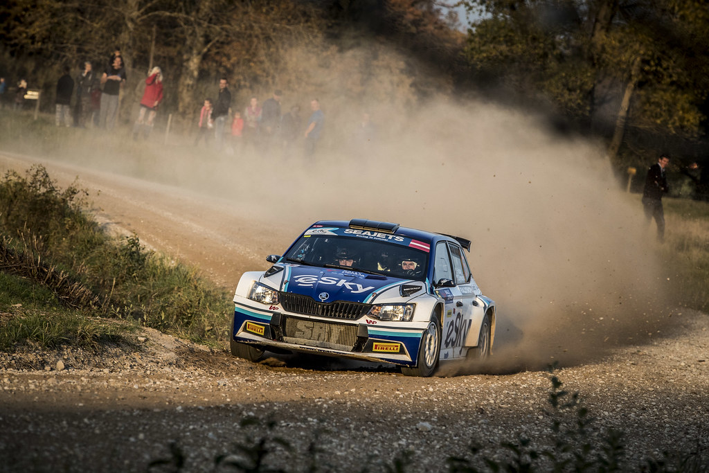 05 HABAJ Lukasz , (POL), Daniel DYMURSKI, (POL), RALLYTECHNOLOGY, Skoda Fabia R5, Action during the 2018 European Rally Championship ERC Liepaja rally,  from october 12 to 14, at Liepaja, Lettonie - Photo Gregory Lenormand / DPPI