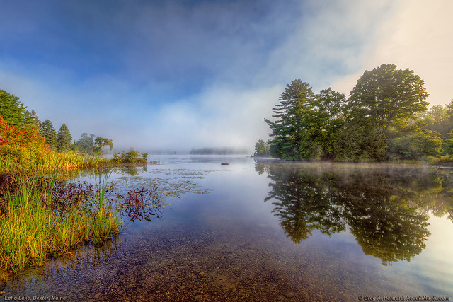 Morning Mist at Echo Lake