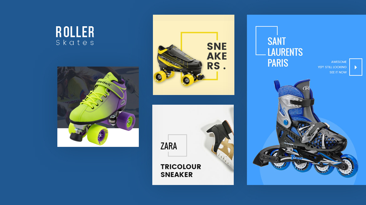 Leo Roller Skates - modern theme for fashion, shoes, sport gear store
