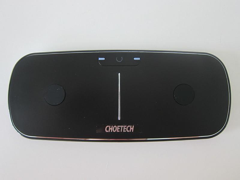 Choetech Dual Wireless Charging Pad - Top