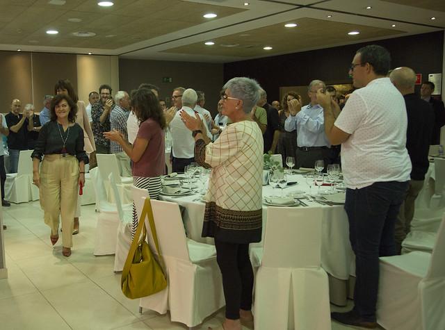 Carmen Calvo con los Socialistas Vascos