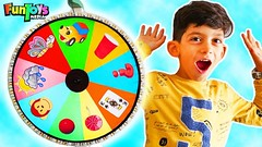 Jason Playing with Magic Spinning Wheel for Kids