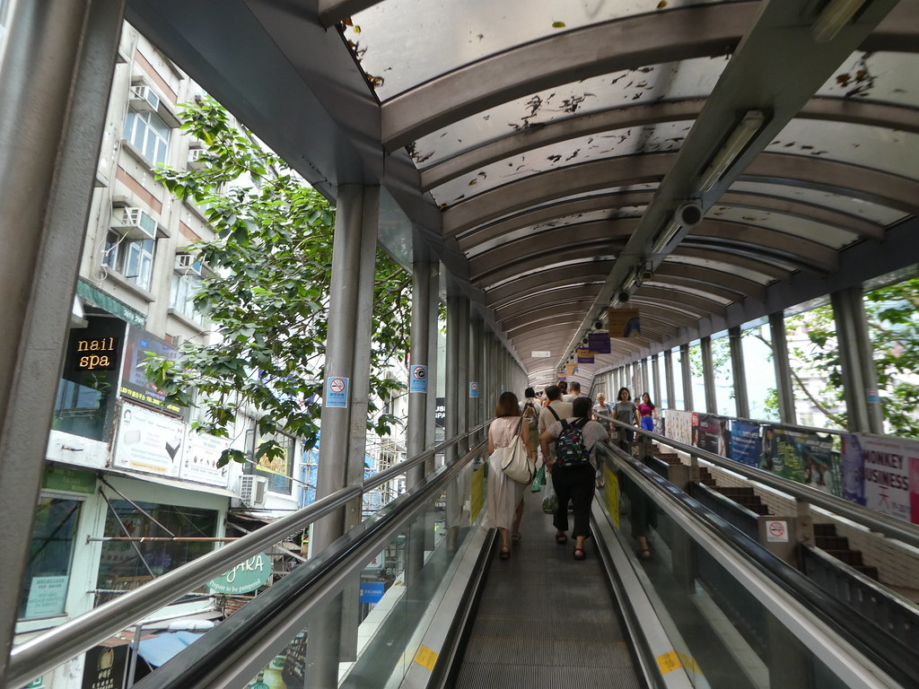 Mid-Levels Escalators, Hong Kong