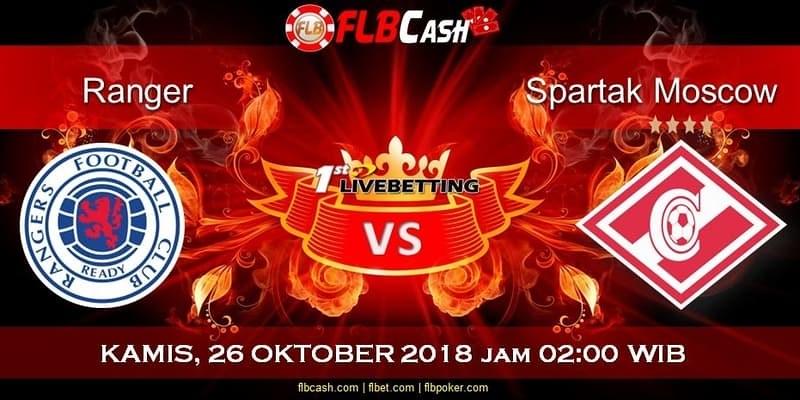 Bursa Prediksi Bola RANGERS vs Spartak Moscow 26 Oktober 2018