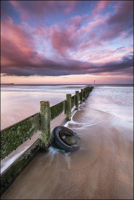 Blyth beach groynes