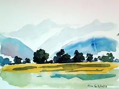 vue sur les Pyrénées à Hiis