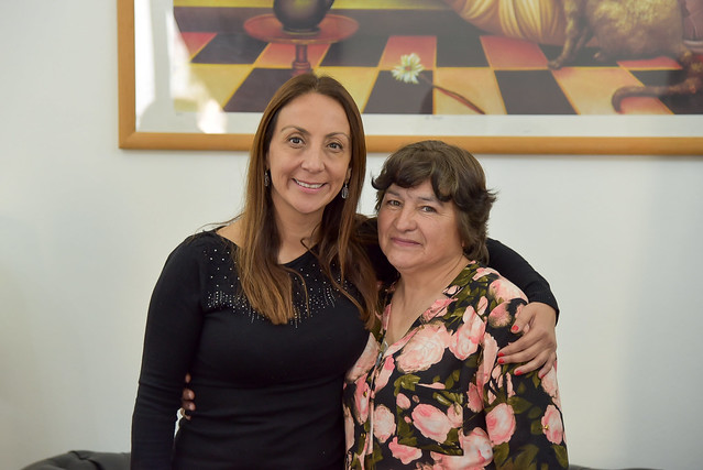 23 Octubre 2018, Ministra Cecilia Pérez junto al Subsecretario Emardo Hantelmann, desayunan con funcionarios del ministerio que pasan a retiro