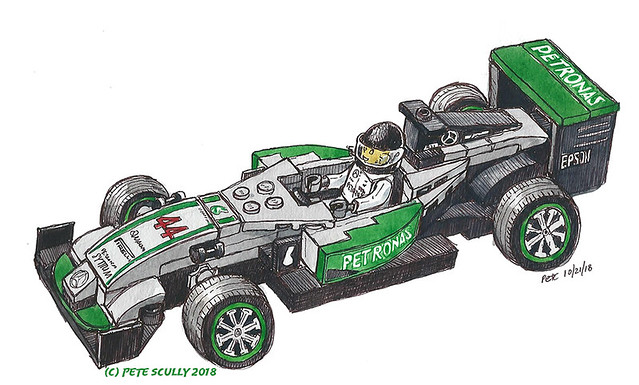Lego F1 Lewis Hamilton world champion