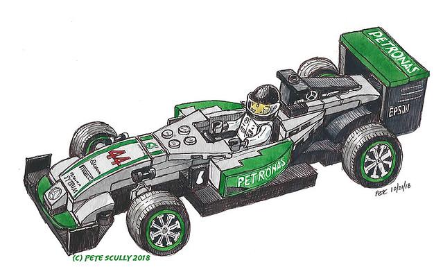 Lego F1 Lewis Hamilton world champion