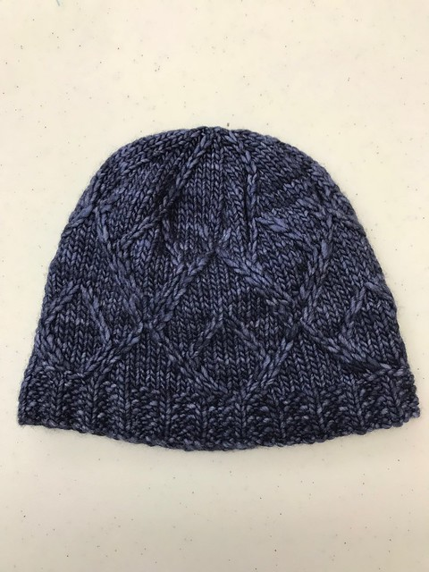 Argyle Love Hat by Laura Heisler - knit with Malabrigo Worsted in the colour Paris Night