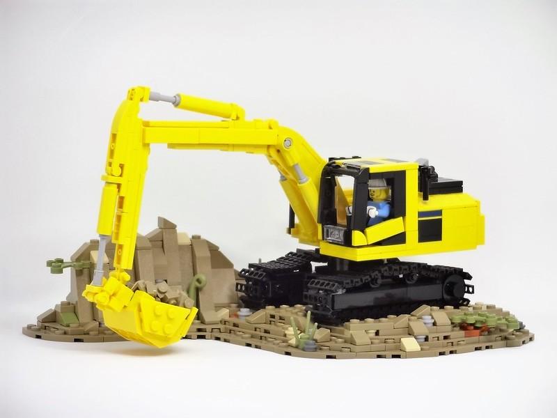 Lego MOC Komatsu excavator PC200-11 ver.3