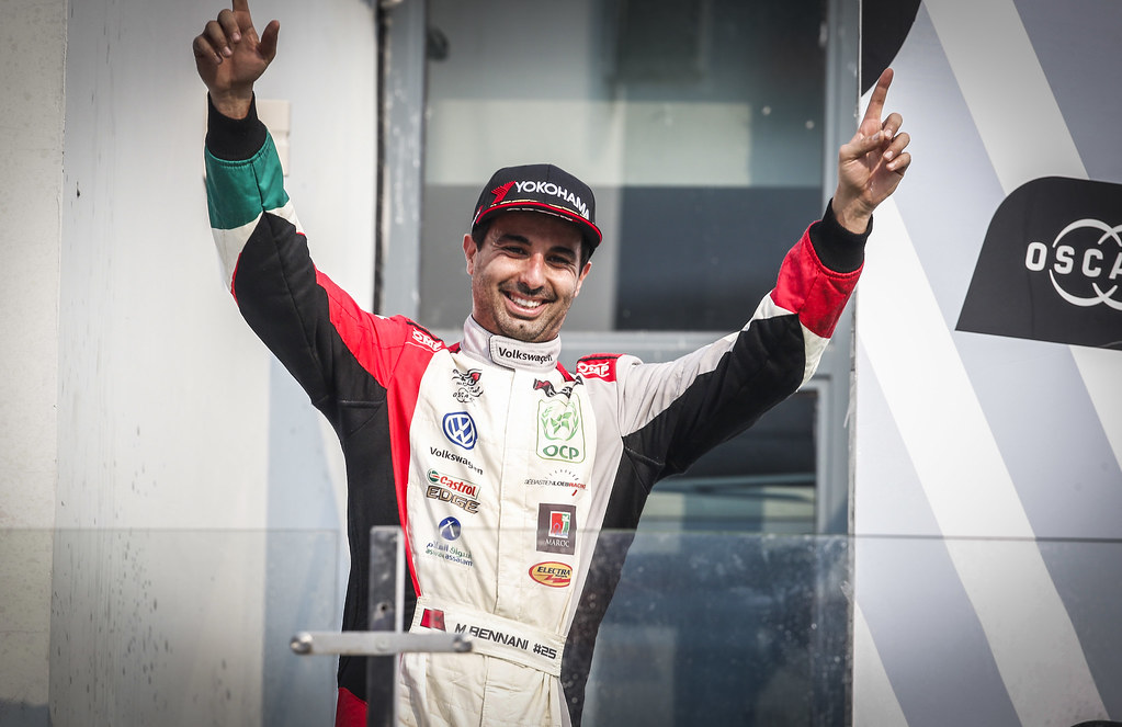 BENNANI Mehdi (mar), Volkswagen Golf GTI TCR team Sebastien Loeb Racing, portrait, podium race 2 during the 2018 FIA WTCR World Touring Car cup of China, at Ningbo  from September 28 to 30 - Photo Jean Michel Le Meur / DPPI