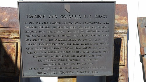 T & G Railroad Plaque