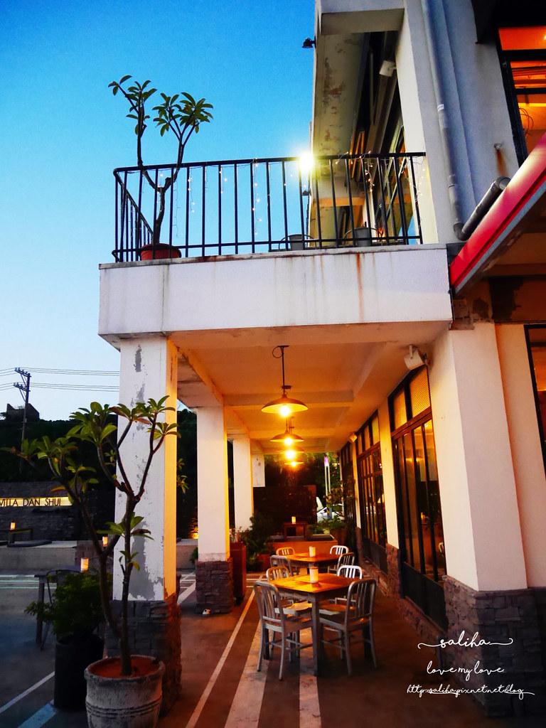 新北淡水老街夜景夕陽景觀餐廳咖啡館推薦la villa cafe (5)