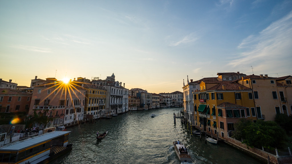 Sunset from Ponte dell'Accademia