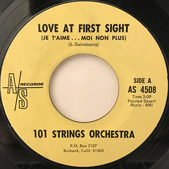 101 STRINGS ORCHESTRA:LOVE AT FIRST SIGHT(JE T'AIME... MOI NON PLUS)(LABEL SIDE-A)