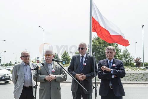 Electric Operated Flagpole for Poland