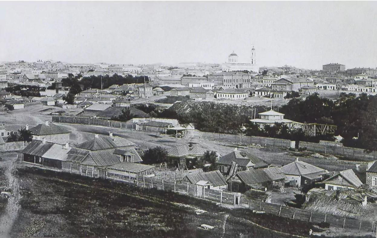 Панорама города. 1873