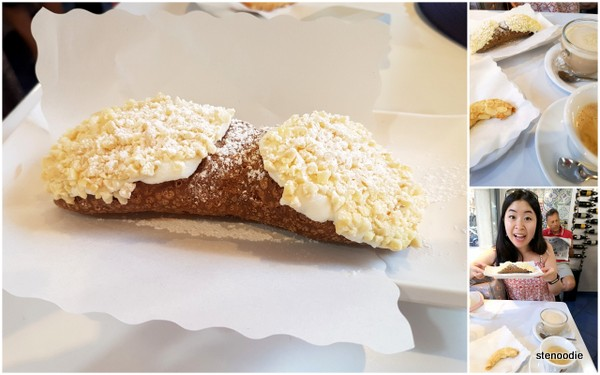 Cannoli for breakfast at La Pasticceria Siciliana