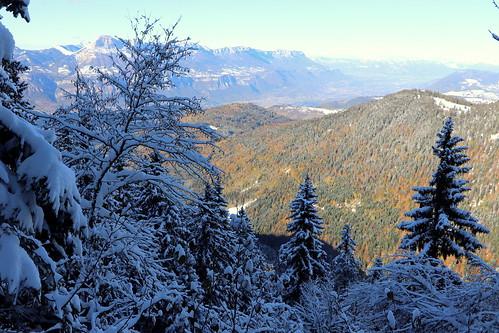 Contrastes automne/hiver avec la vallée du Grésivaudan