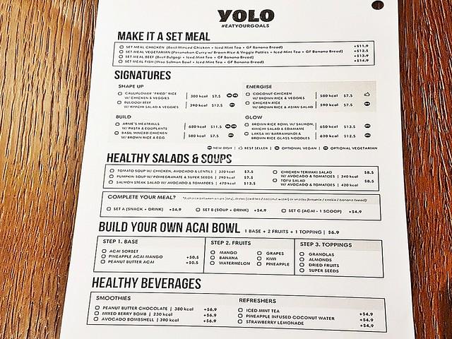 Order Chit Signatures, Salads, Soups, Beverages