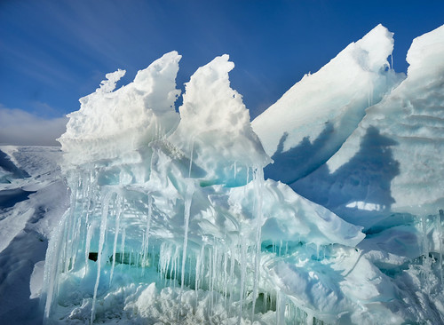 Folded Ice in Antarctica