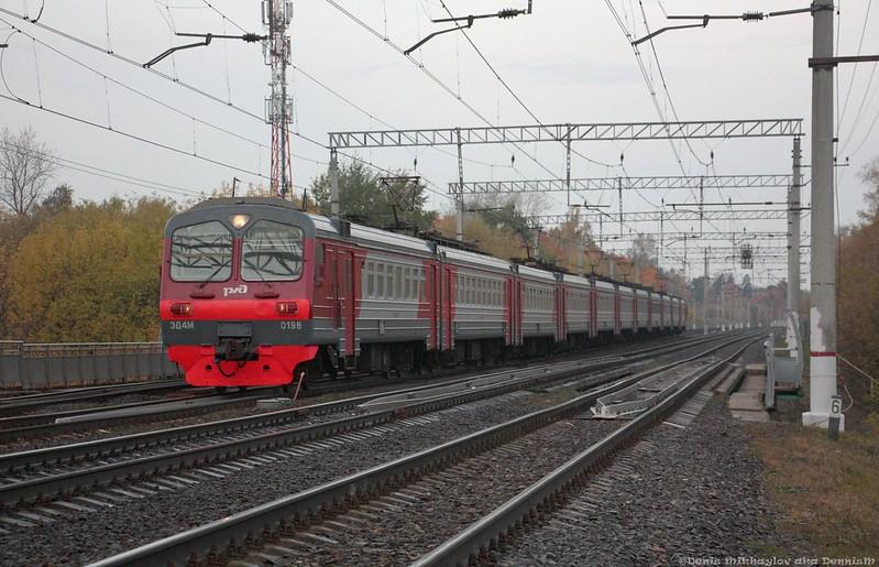 Электропоезд ЭД4М-0198, перегон Люберцы-1 - Раменское.