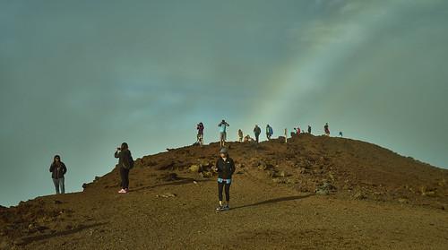 Haleakela Lookyloos with Rainbow i 099