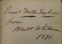 Penn Libraries 811W 1865: Inscription