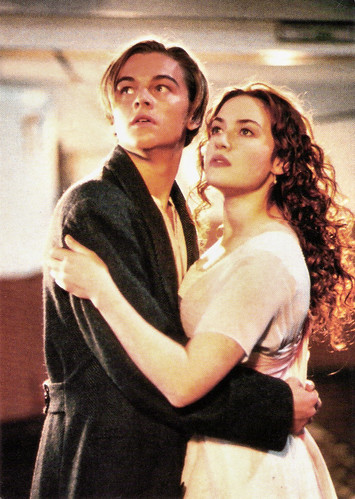 Kate Winslet and Leonardo DiCaprio in Titanic (1997)