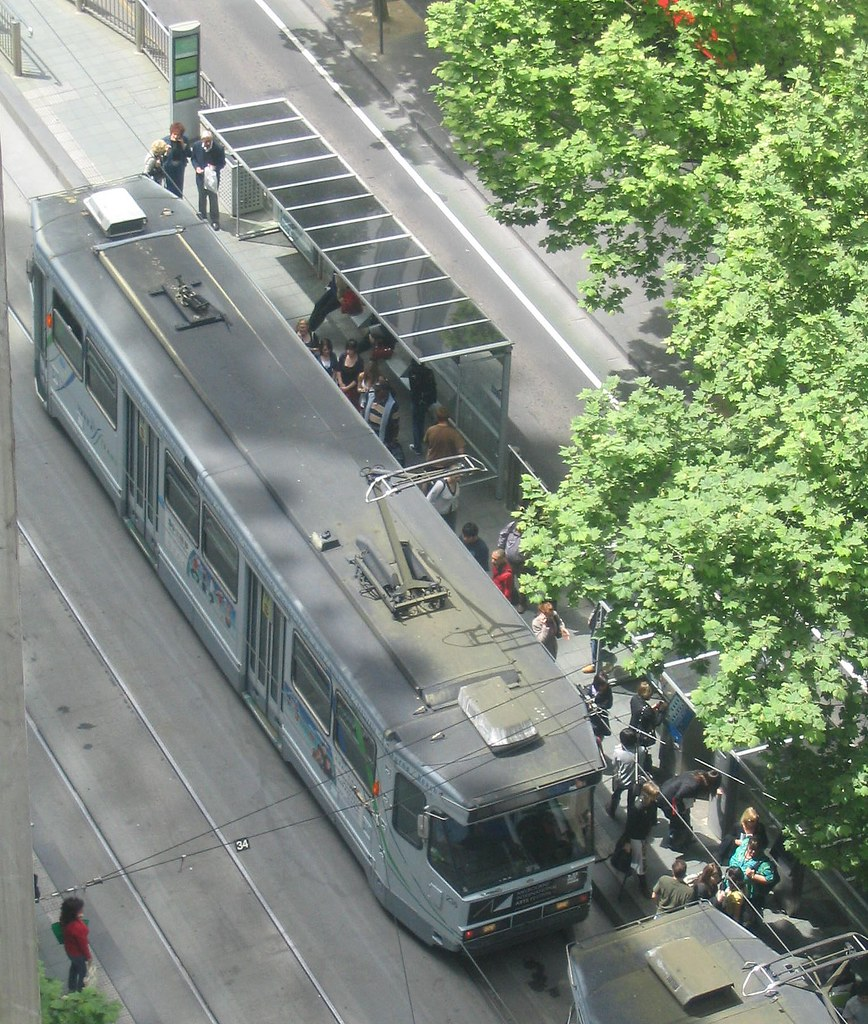 Trams, Collins Street, October 2008