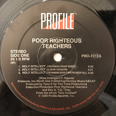 POOR RIGHTEOUS TEACHERS:HOLY INTELLECT(LABEL SIDE-A)