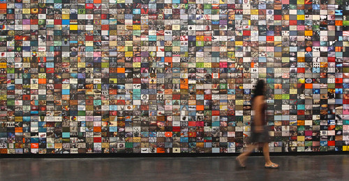 Comfortably Numb, wall installation with found printed matter, 2012-17. Artist Nayda Collazo-Llorens