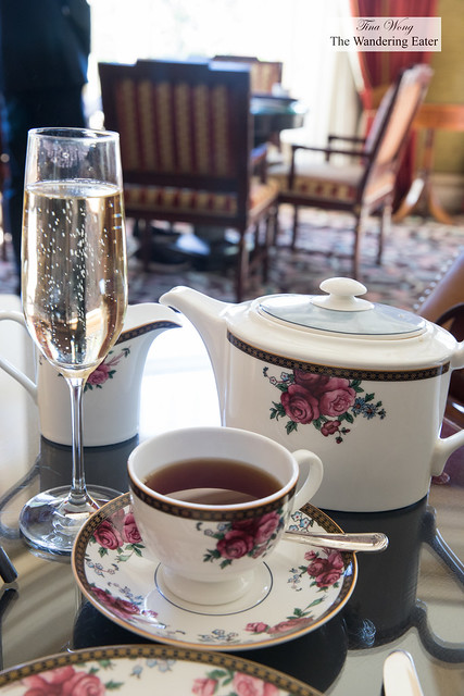 My glass of Champagne and Earl grey tea