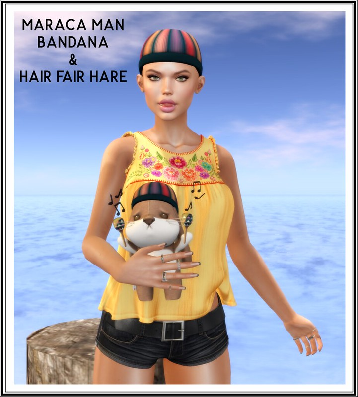Maraca Man Bandana & Hair Fair Hare