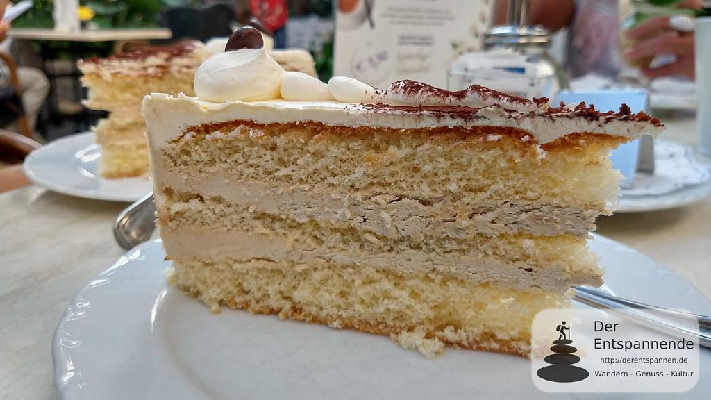 Cafe-Creme-Torte im Palmenhaus, Insel Mainau