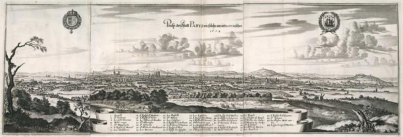 Kasper Merian - Pros. der statt Parys wie solche an ietzo ansusehen (1654)