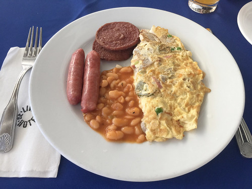 Be Live Marien Puerto Plata - Omlette, Würstchen & Bohnen zum Frühstück / Omelette, sausages & beans for breakfast